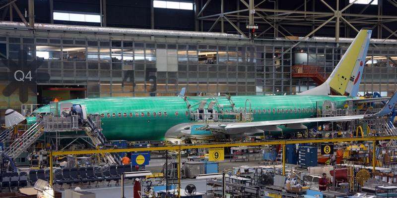 Pabrik Boeing 737 di Renton, AS.