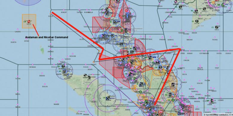 Waypoint MH370 sebelum menghilang dari radar.