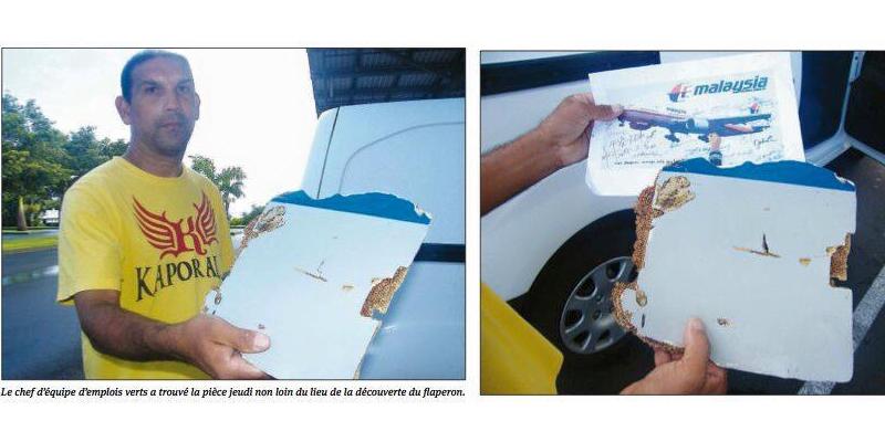 Serpihan diduga  milik B777 MH370