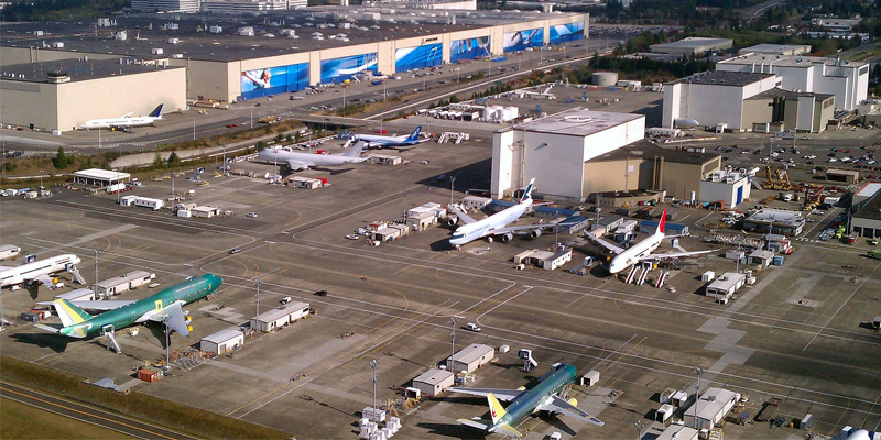 Pabrik Boeing di Paine Field, AS.